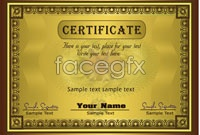 Link to2 gorgeous diploma template vector graphic