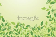 Link to2 green lace vector