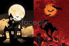 Link to2 halloween vector illustration
