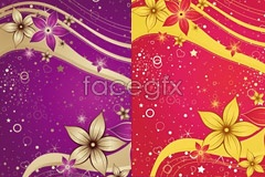 Link to2 hand-painted flower pop background vector