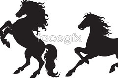 Link tovector silhouettes horse 2