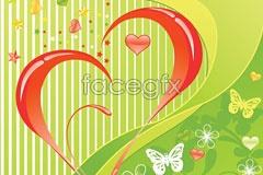 Link to2 korea heart flower butterfly background