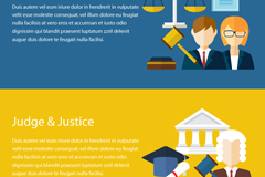 Link to2 lawyers and legal elements banner vector diagrams