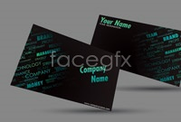 Link to2 letter technology business card background vector map