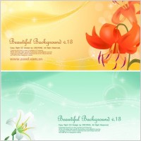 Link to2 lilies and background vector