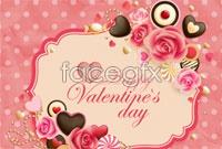 2 romantic love wreaths vector map