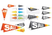 Link to2 sales discount label origami vector map