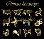 Link to2 sets of 12 lunar new year vector