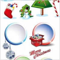 Link to2 sets of christmas vector
