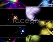 Link to2 sets of cool glare effect background vector