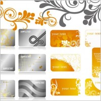 Link to2 sets of pattern background card template vector