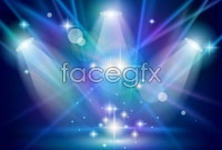 Link to2 stage lighting background vector