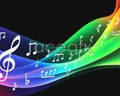 Link to2 symphony music theme vector