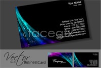 Link to2 symphony of light and shadow business card template vector map