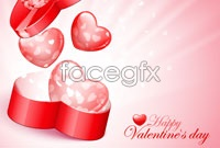 Link to2 valentine's day heart shaped gift box vector