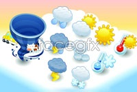 Link to2 weather forecast icons vector