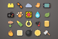20 beautiful game icon vector