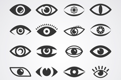 Link to20 cartoon eyes design vector