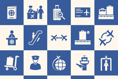 Link to20 creative airport design elements vector