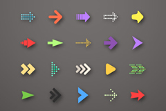 20 elegant arrow icon vector