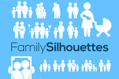 20 family characters icon vector
