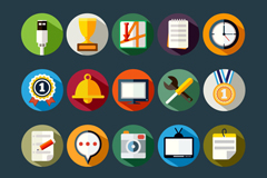 20 fine useful icon vector