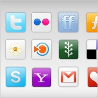 Link to20 free social network icons