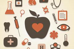 20 health icon vector