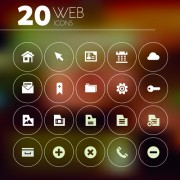 Link to20 kind creative web icons vector free