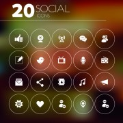 20 kind social icons vector free