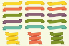 Link to20 paper ribbon banner vector