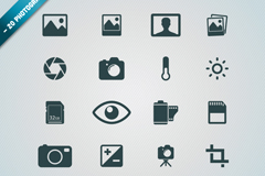 20 photographic elements icon vector