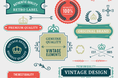 Link to20 promotional labels and lace vector
