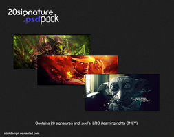Link to20 signature .psd pack