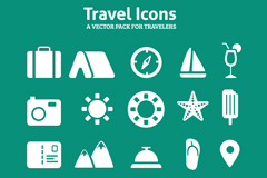 20 travel icon design vector