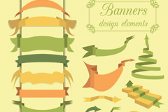 Link to20 vintage ribbon banner vector