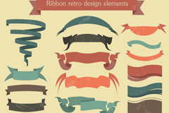 Link to20 vintage ribbon design vector