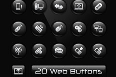 Link to20 web pages button icon vector