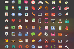 200 flat style icon vector