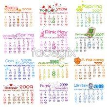 psd template calendar 2009