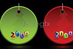 Link to2009 christmas tag vector