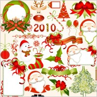 Link to2010 christmas element vector