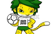 Link to2010 south africa world cup mascot vector