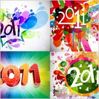Link to2011 bright colorful background pattern vector