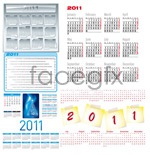 Link to2011 calendar template 3 vector