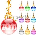 Link to2011 christmas balls vector