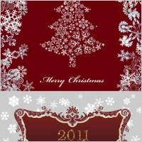 Link to2011 christmas pattern vector