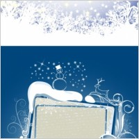 Link to2011 christmas snowflake background vector