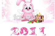 Link to2011 cute angel bunny vector
