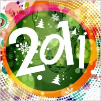 Link to2011 new year floral backgound vector graphic